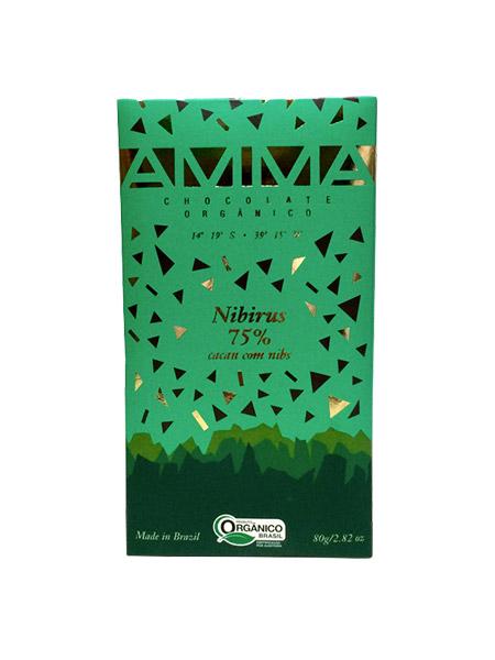 Chocolate Orgânico Nibirus 75% 80g – Amma