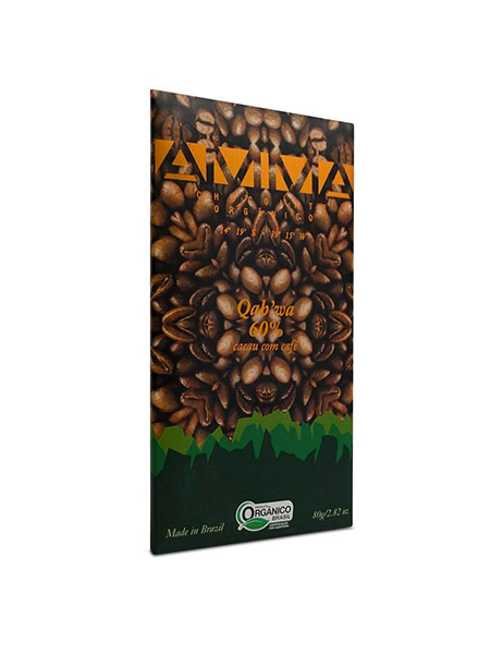 Chocolate Orgânico Qah'wa 60% 80g – AMMA