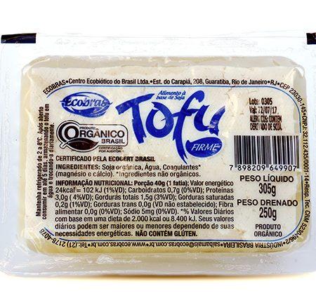 Tofu Firme Orgânico 250g – Ecobras
