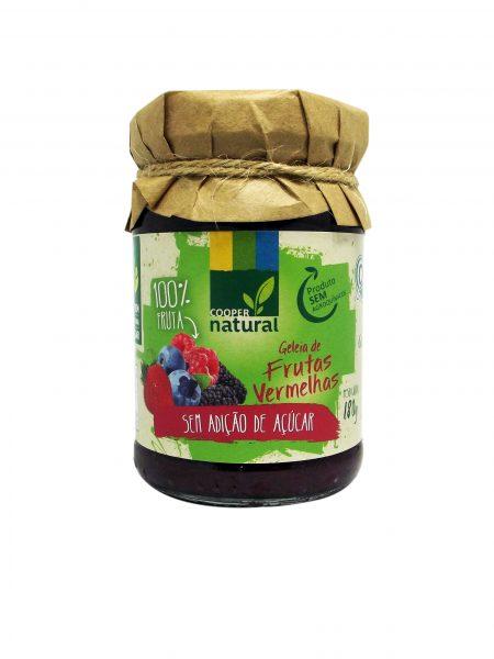 Geleia de Frutas Vermelhas Orgânica sem açúcar 180g – Coopernatural